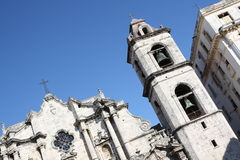 The Havana's Cathedral and it's nearest building. Cuba Stock Photos