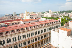Havana`s crumbling baroque and Spanish colonial buildings mixed Stock Photos