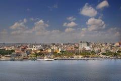 Havana skyline and bay. A view of havana skyline under blue sky Stock Image