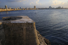 Havana skyline and bay entrance Stock Photography