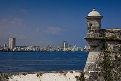 Havana Skyline from Fort Morro Royalty Free Stock Image
