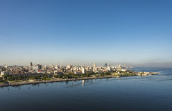 Havana skyline morning view. From Fortress of San Carlos de la Cabaña. Havana, Cuba. Old Havana and its fortification system is a UNESCO World Heritage site Royalty Free Stock Photos