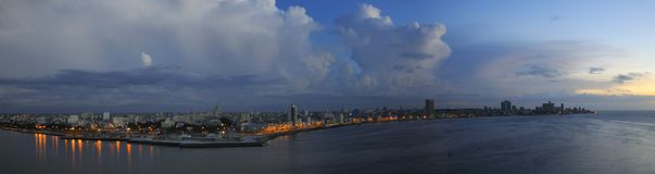 Havana skyline panorama at dusk Royalty Free Stock Photos