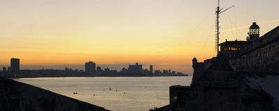 Havana skyline at sunset Stock Images