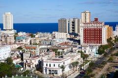 Havana Skyline, vista aerea Fotografie Stock Libere da Diritti