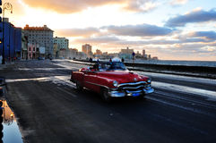 Havana social Club. The malecon in la Havana, the coast front where all the classic cars run up and down Royalty Free Stock Photos