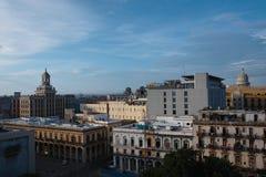 Havana stad i Kuba Fotografering för Bildbyråer