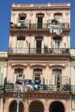 Havana starzy mieszkania obraz stock