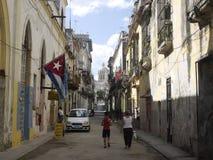 Havana-Straße Lizenzfreie Stockfotos