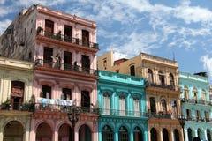 Havana Street Balconies Arkivbild