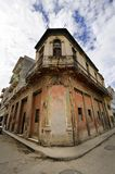Havana street with eroded building Royalty Free Stock Image