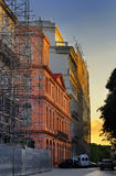 Havana street facades at sunset Stock Photo