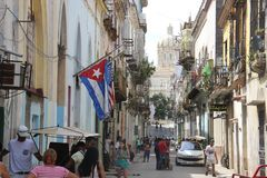 Havana Street idosa em Cuba imagens de stock