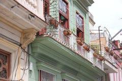 Havana Street idosa em Cuba fotografia de stock royalty free