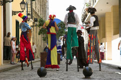 Havana Street performers Royalty Free Stock Photography