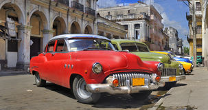 Free Havana Street With Colorful Old Cars In A Raw Royalty Free Stock Images - 11773589