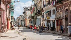 Havana Streets Downtown Cuba Stock Photography