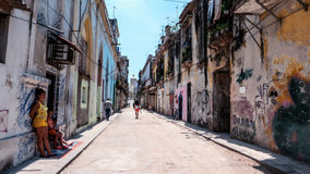 Havana Streets Perspective Cuba Royalty Free Stock Image