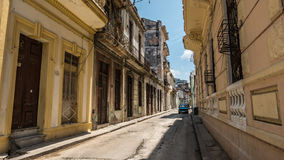 Havana Streets Perspective Royalty Free Stock Photography