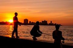 Havana sunset Royalty Free Stock Image