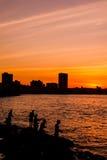 Havana sunset Royalty Free Stock Photos