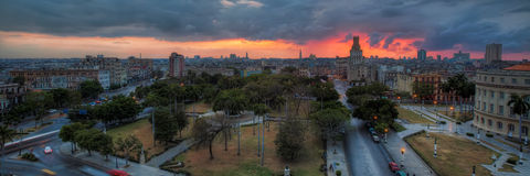 Havana at sunset Royalty Free Stock Images