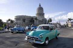 Havana, traffic in front of Capitol Royalty Free Stock Image
