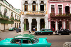Havana Urban Scene Royalty Free Stock Photography