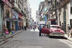 Havana velho, Cuba Imagem de Stock Royalty Free