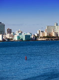 Havana. View of the old city through a bay Stock Images
