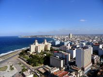 Havana. View toward east from the tallest building called FOCSA (from the 28 floor Stock Photos