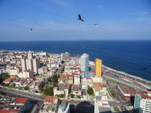 Havana. View toward west from the tallest building called FOCSA (from the 28 floor Royalty Free Stock Photography