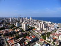 Havana. View toward west from the tallest building called FOCSA (from the 28 floor Stock Photo