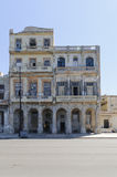 Havana. Weathered House on the Malecon in Havana, Cuba Stock Photography