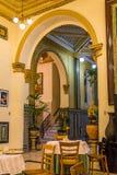 Havanas旅馆Inglaterra内部在古巴 免版税库存照片