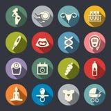 Havandeskapsymbolsuppsättning stock illustrationer