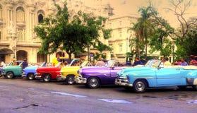 Havanna汽车 免版税库存图片
