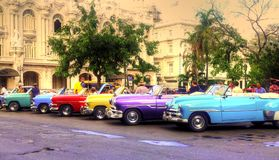 Havanna bilar Royaltyfri Bild