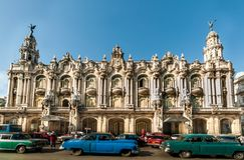 Havanna, Cuba - 24 dicembre: architettura della Cuba, 2012 Immagini Stock Libere da Diritti