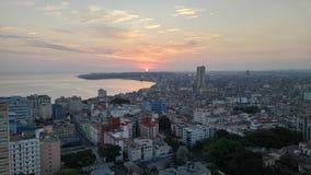 Havanna på gryning Arkivbilder