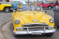 HAVANNACIGARR KUBA - JANUARI 04, 2018: Retro klassiskt amerikanarePA royaltyfria foton