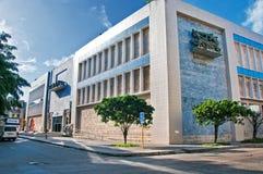 HAVANNACIGARR KUBA - JULI 12, 2016: Byggnad av det nationella museet av Arkivbilder