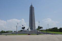 Havannacigarr Kuba - Maj 14, 2015: Sikt av revolutionfyrkanten på en solig dag Arkivbild
