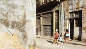 Havannacigarrgata, Kuba Royaltyfri Fotografi