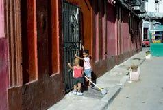 Havannacigarrgataplats Royaltyfri Fotografi