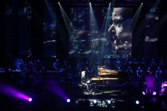 HAVASI Symphonic Concert Show 2017. At Palace Hall, Bucharest, Romania. Balazs Havasi is a piano virtuoso and one of the most fascinating and versatile young Royalty Free Stock Photos