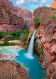 Havasu cade, cascate in Grand Canyon, Arizona Immagine Stock