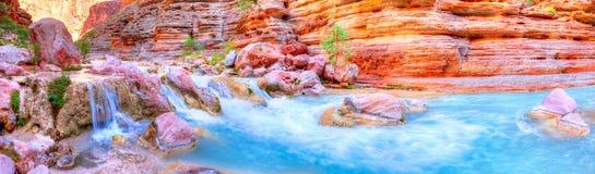 Havasu Creek. Panorama of Havasu Creek in Grand Cayon stock photos