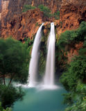 Havasu Falls. On the Havasupai Indian Reservation, located in the Grand Canyon, Arizona Royalty Free Stock Image