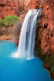 Havasu Falls. Picturesque Beautiful Grand Canyon Waterfall Royalty Free Stock Photography